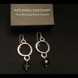 Silpada Sterling earrings with Smoky quartz beads